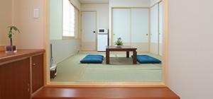 式場、会食場、浴室などの設備を備えた控室を完備