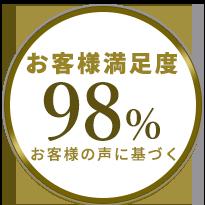 満足度98%