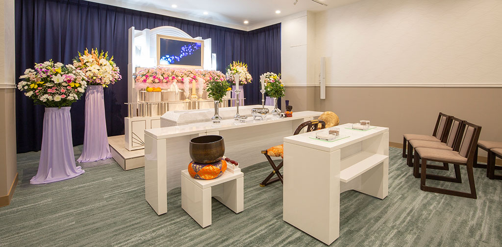 20名までの家族葬専用式場「リビングルーム」を新設。