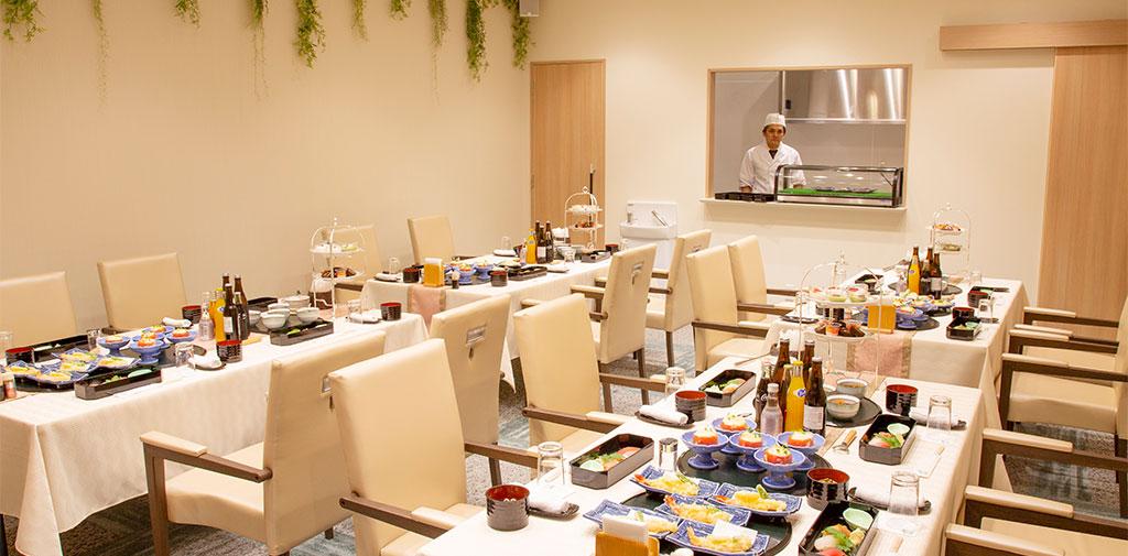 専用のご会食所で過ごす、故人様を偲び語らう大切なひと時